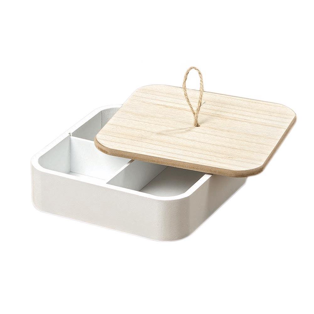 Holzbox Milus mit Aufteilung weiß